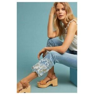 Pilcro & the Letterpress floral embroidered jeans